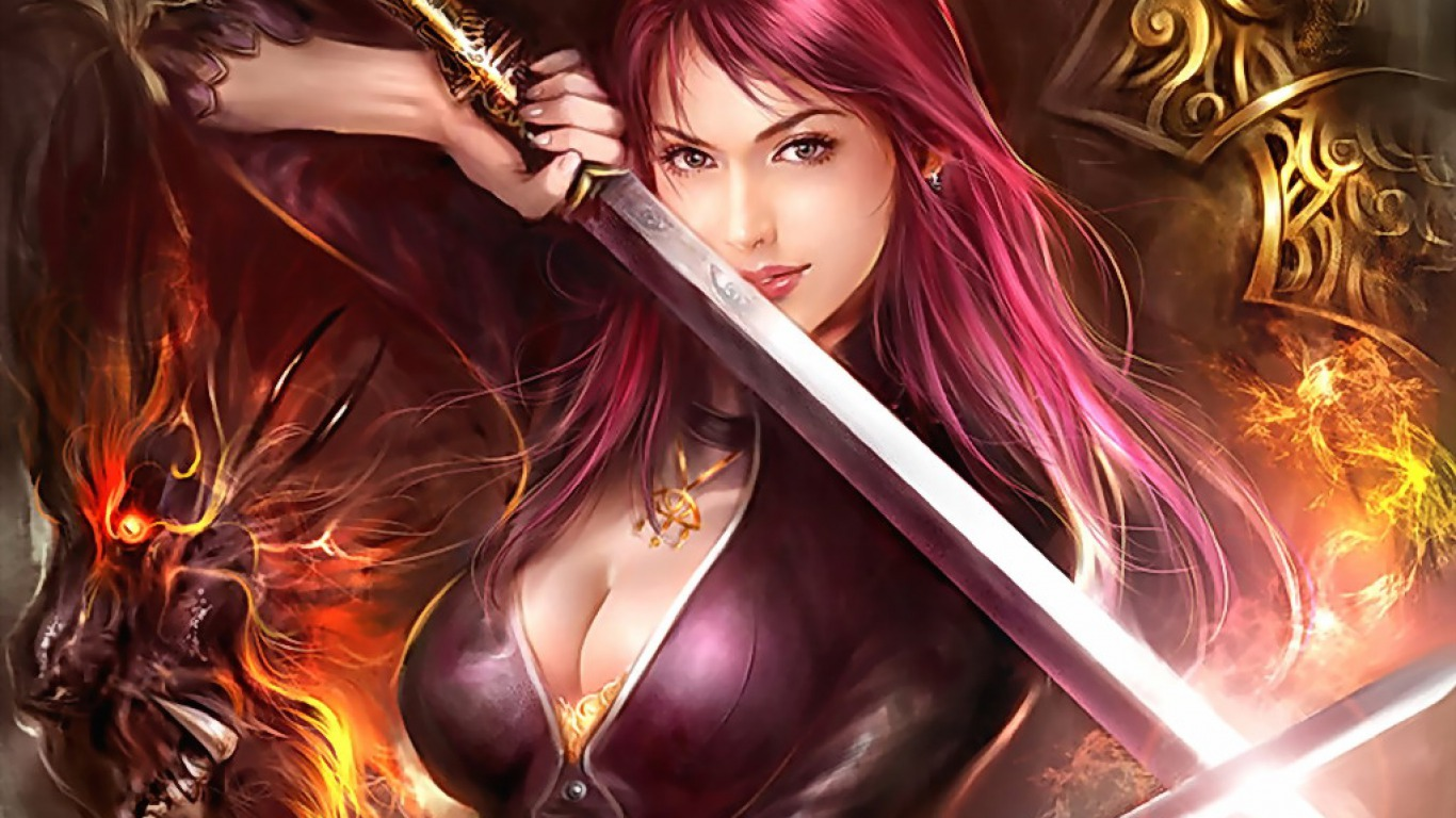 1366x768 > Women Warrior Wallpapers