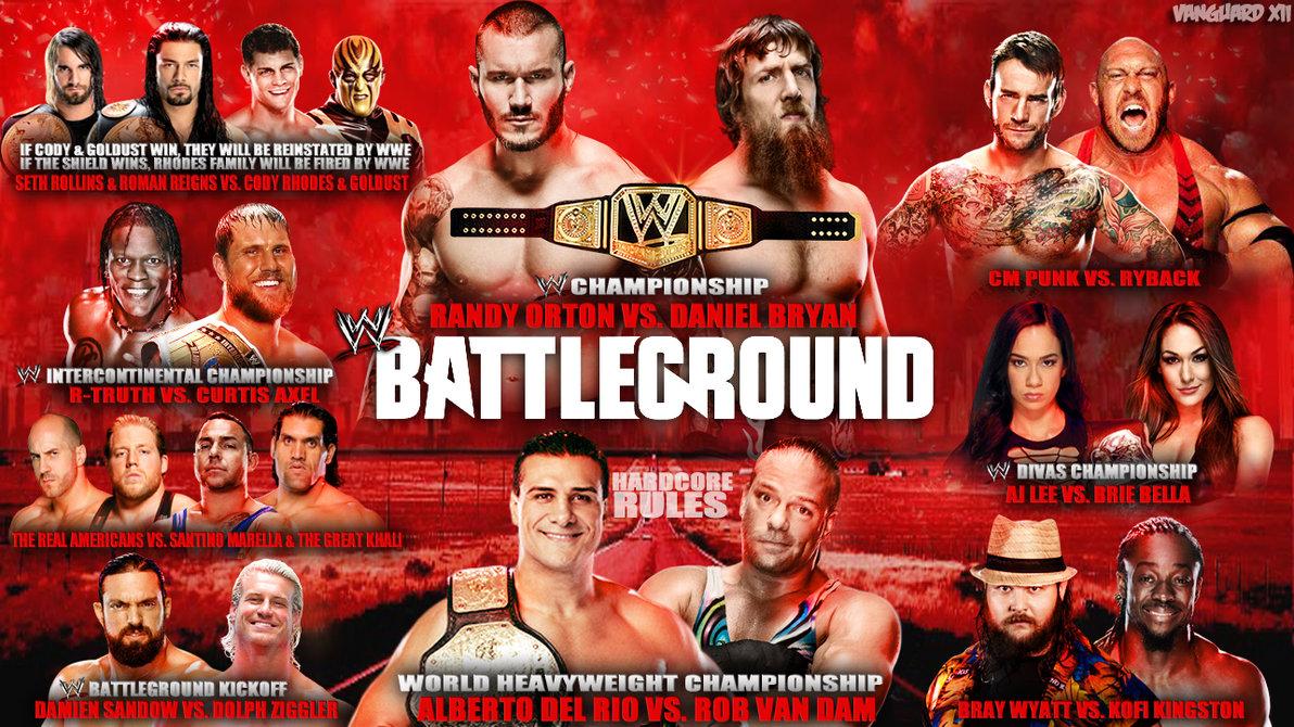 1192x670 > WWE Battleground 2013 Wallpapers