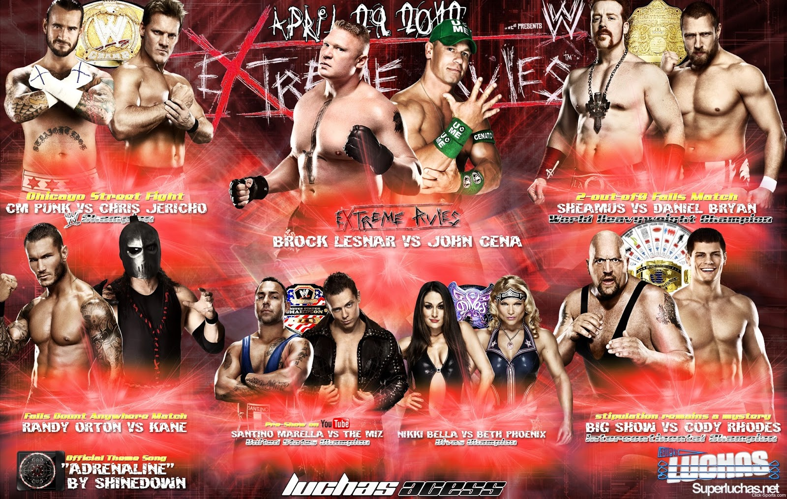 Nice wallpapers WWE Extreme Rules 2012 1600x1015px