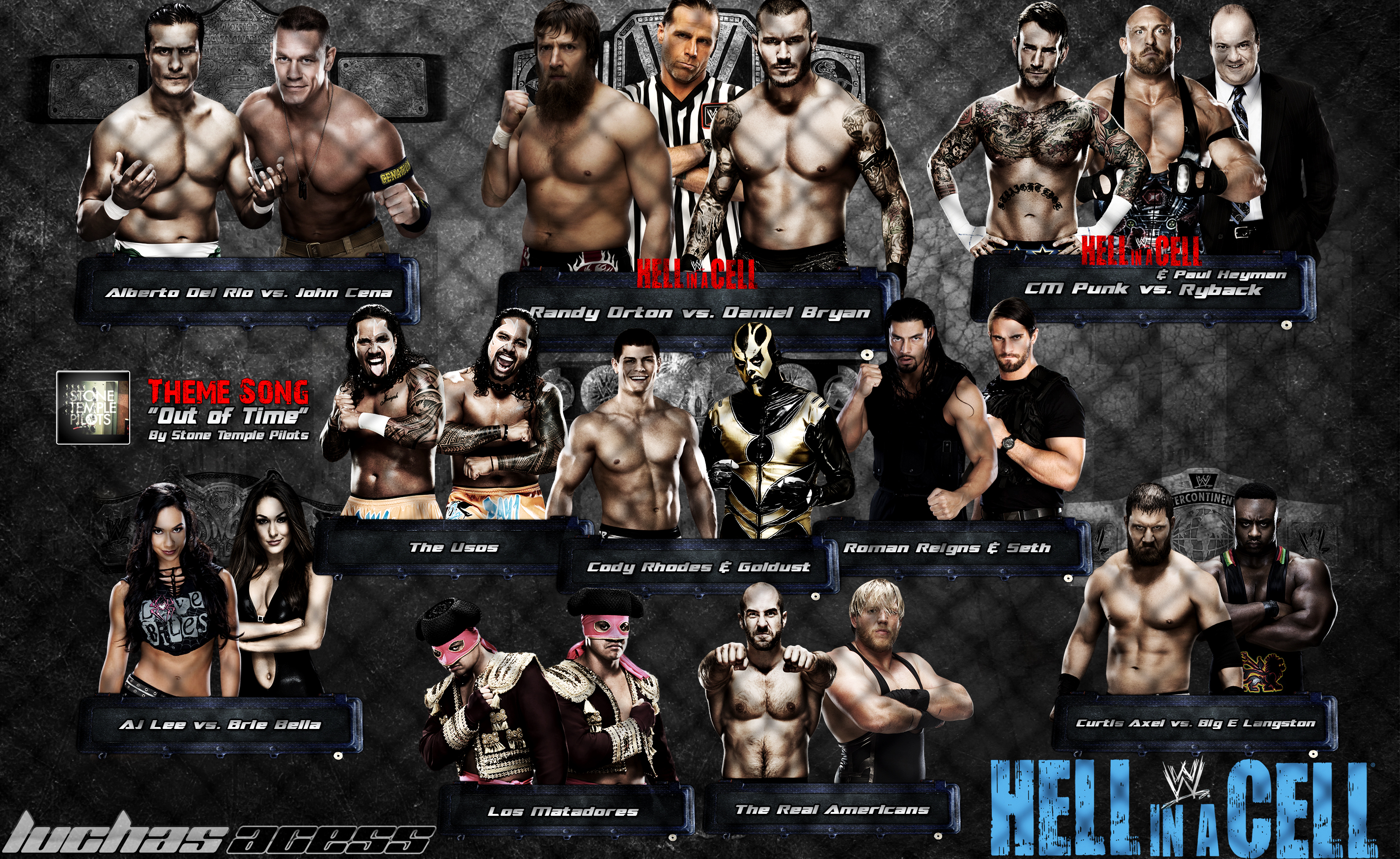 HD Quality Wallpaper   Collection: Movie, 2850x1750 WWE Hell In A Cell 2013