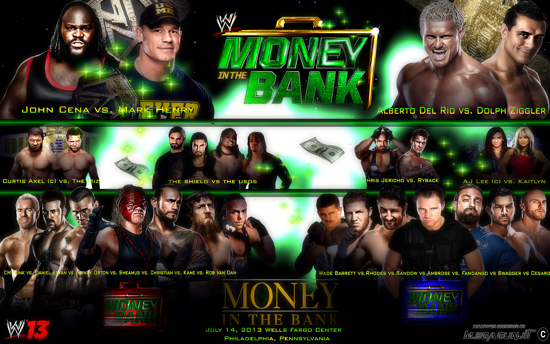 HD Quality Wallpaper   Collection: Movie, 1920x1200 WWE Money In The Bank 2013