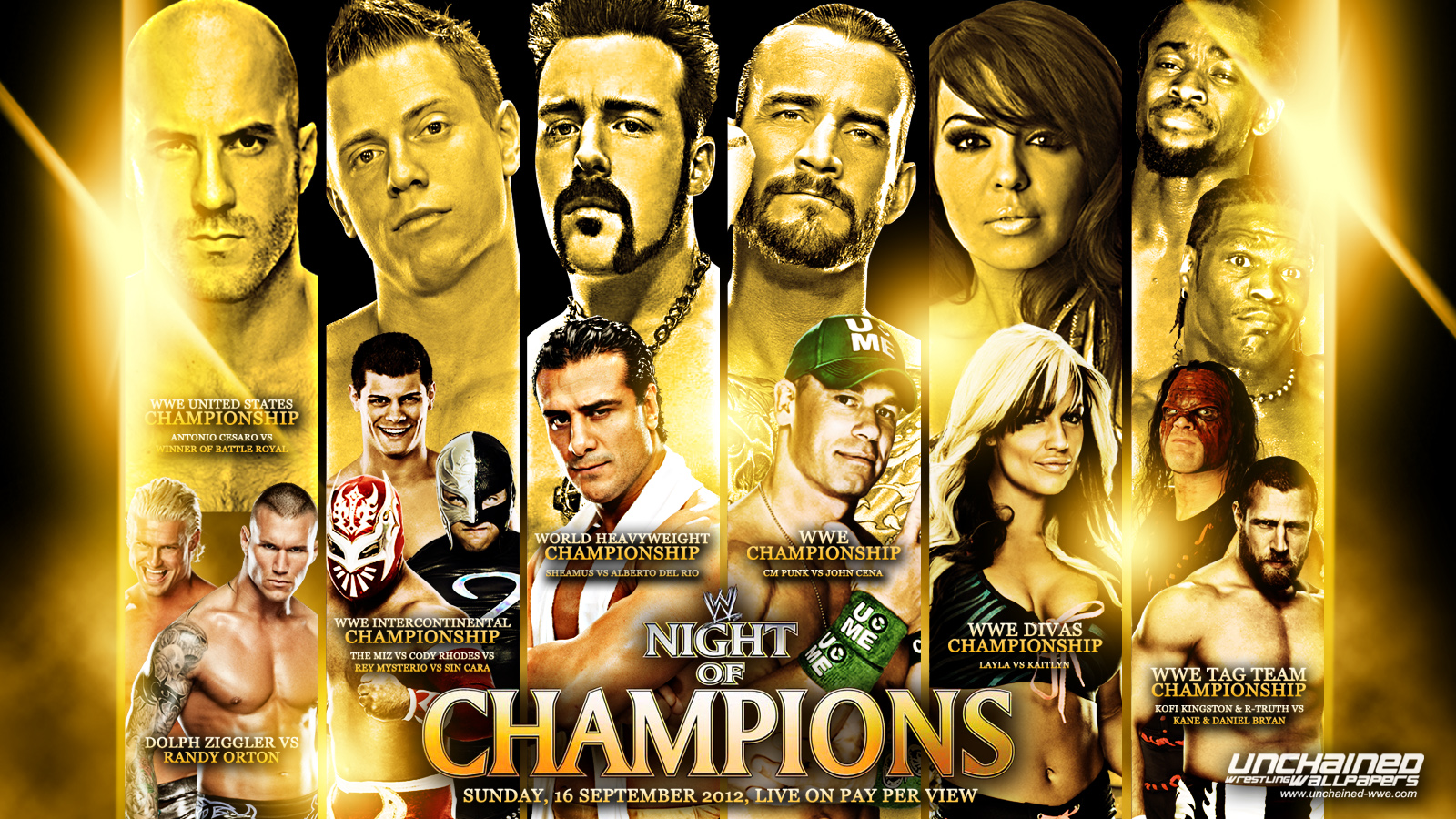 Images of WWE Night Of Champions 2012 | 1600x900