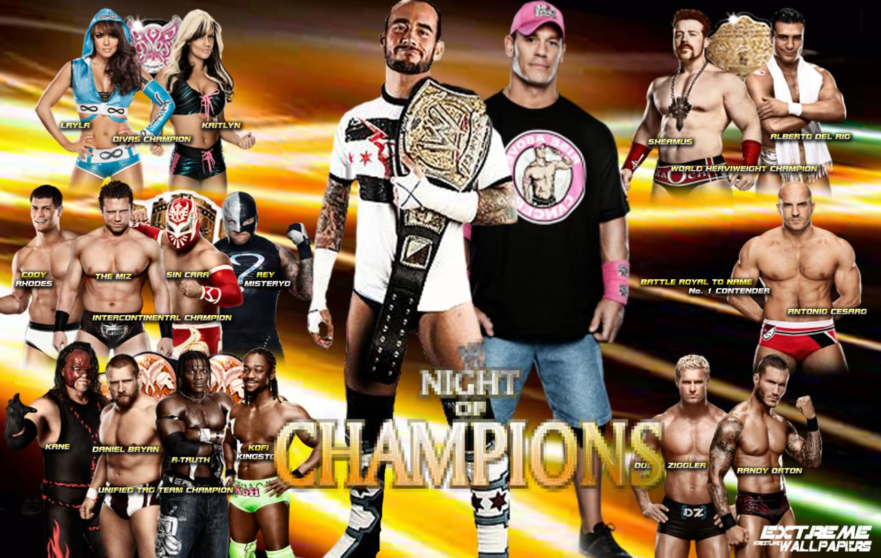 HD Quality Wallpaper | Collection: Movie, 1280x811 WWE Night Of Champions 2012