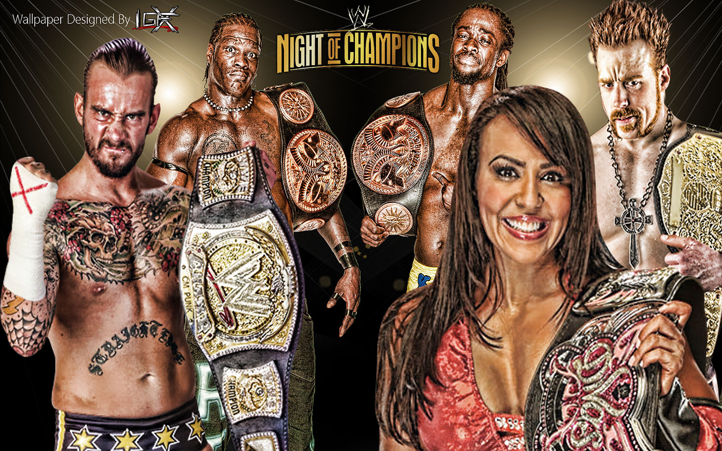 HQ WWE Night Of Champions 2012 Wallpapers | File 472.58Kb