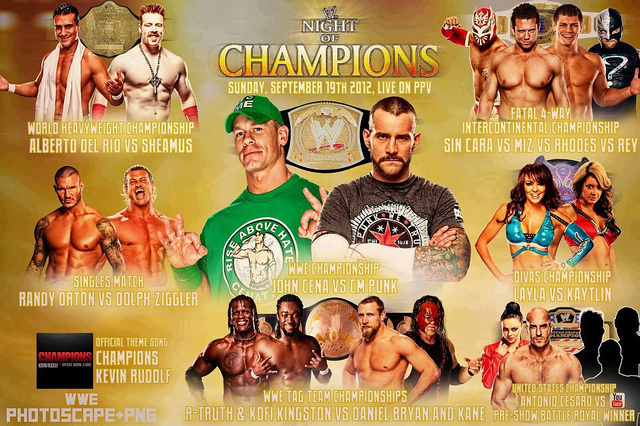Amazing WWE Night Of Champions 2012 Pictures & Backgrounds