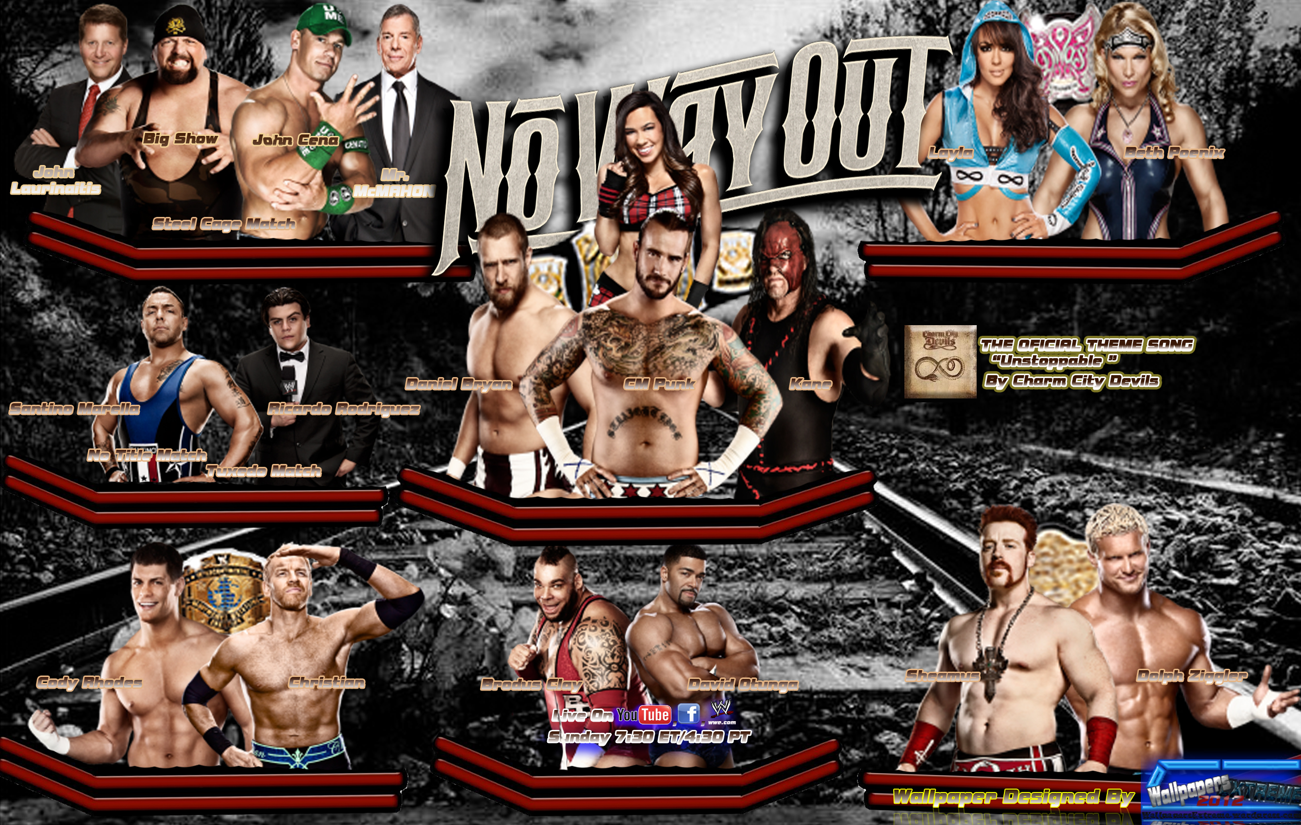 HD Quality Wallpaper   Collection: Movie, 2680x1700 WWE No Way Out 2012