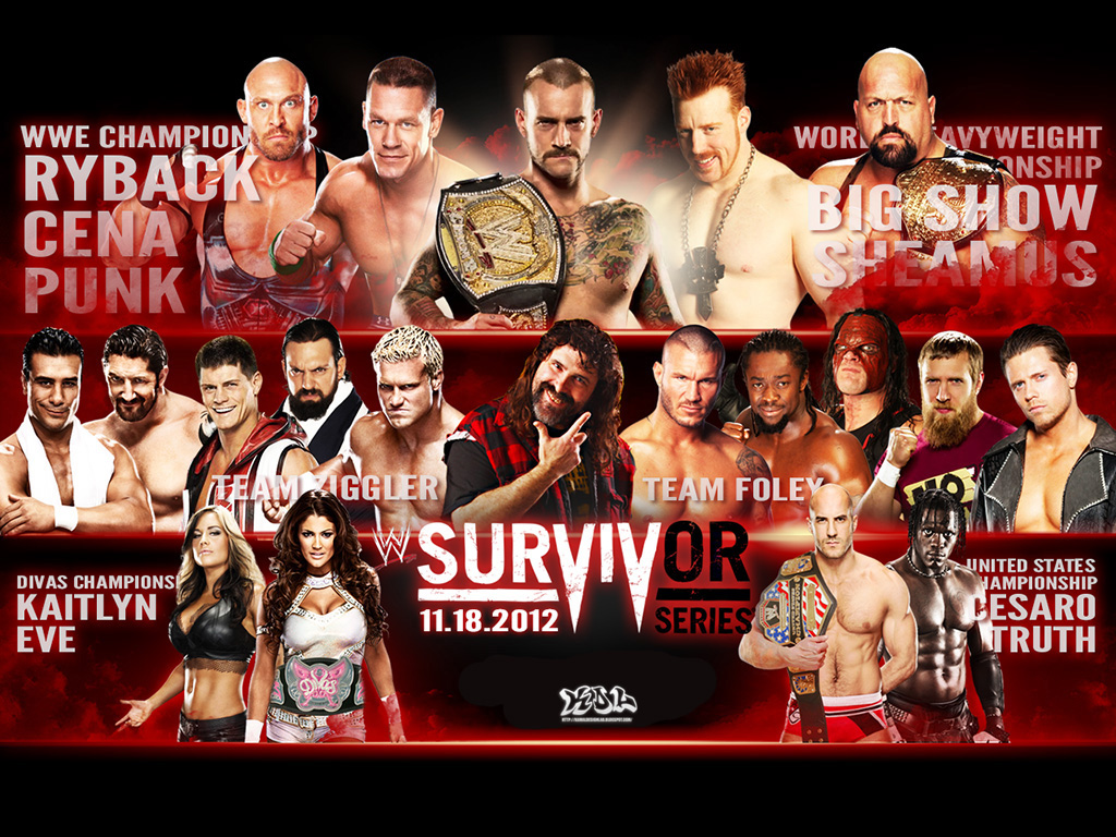 High Resolution Wallpaper   WWE Survivor Series 2012 1024x768 px