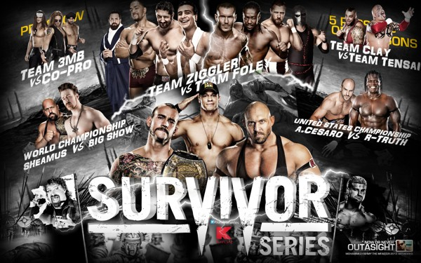 High Resolution Wallpaper   WWE Survivor Series 2012 600x375 px