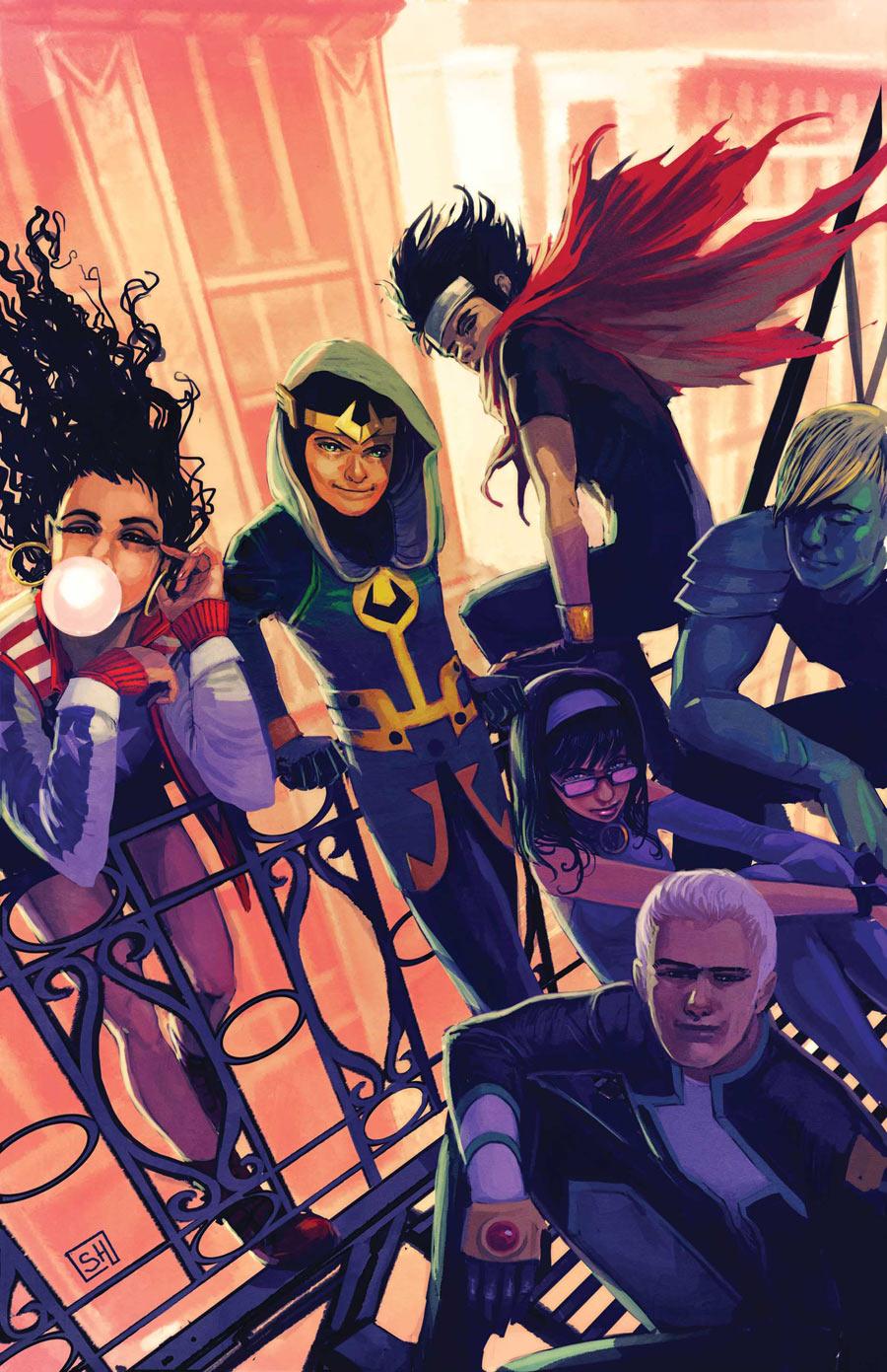 Nice wallpapers Young Avengers 900x1391px