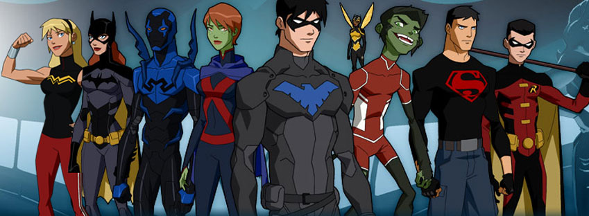 High Resolution Wallpaper | Young Justice: Invasion 849x312 px