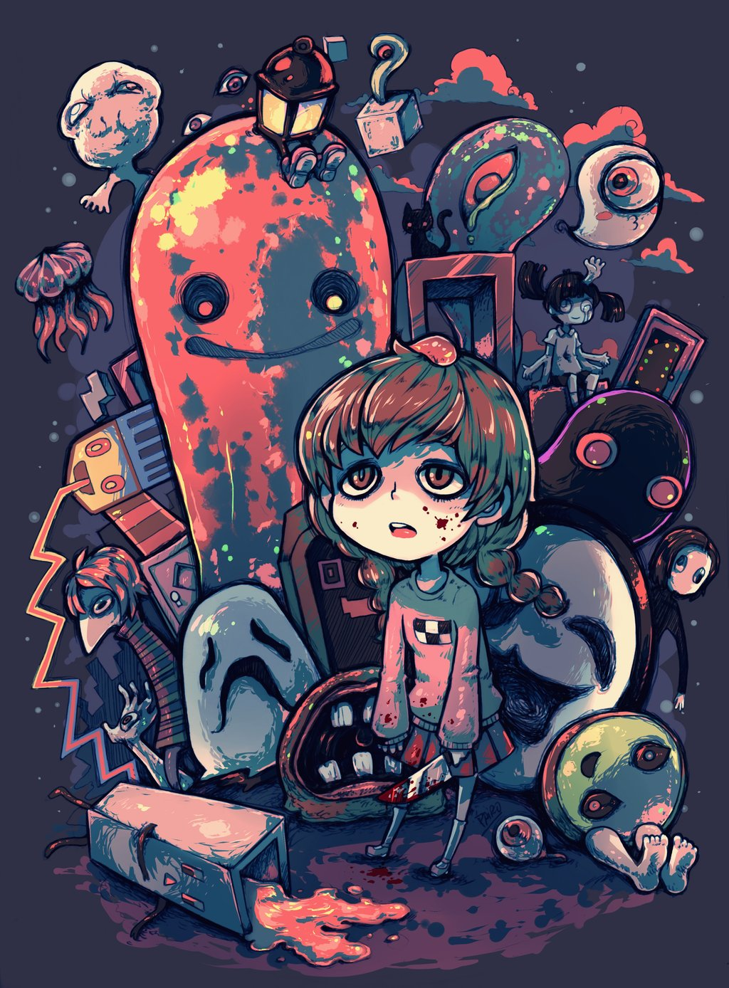 HD Quality Wallpaper | Collection: Anime, 1024x1388 Yume Nikki