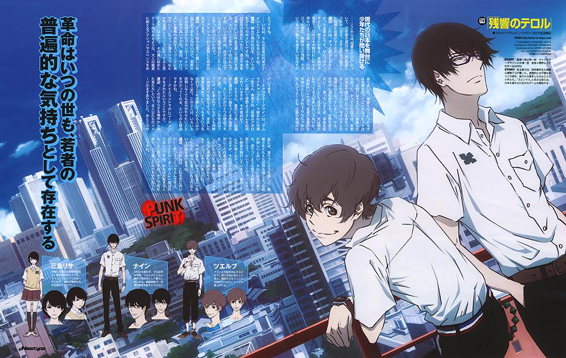 HD Quality Wallpaper | Collection: Anime, 1100x696 Zankyou No Terror